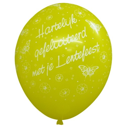 11in lentefeest vlinders std yellow